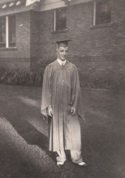 Ross Perot in his graduation gown