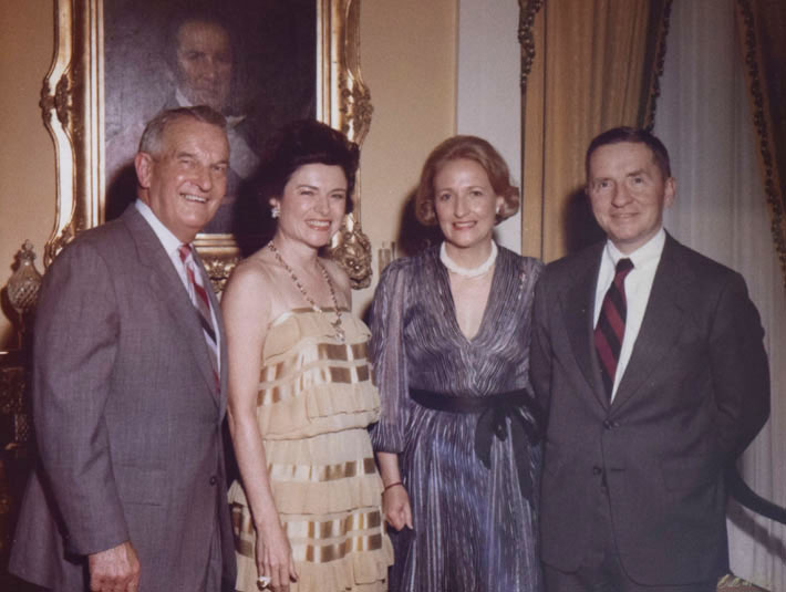 Bill and Rita Clements with Margot and Ross Perot