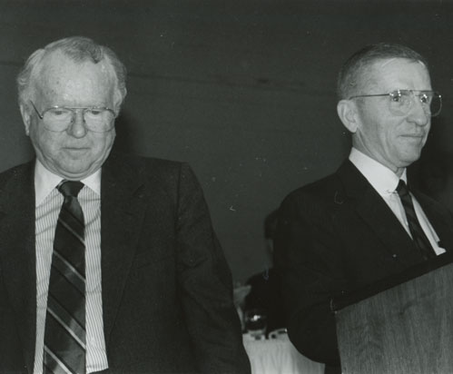 Roger Smith, Chairman of General Motors Corp., and Ross Perot