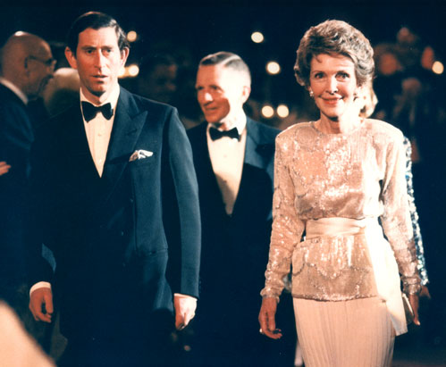 Britain's Prince Charles, First Lady Nancy Reagan, and Ross Perot