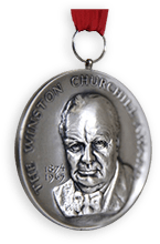 The Winston Churchill Award medal