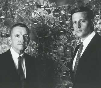 Ross Perot and his son